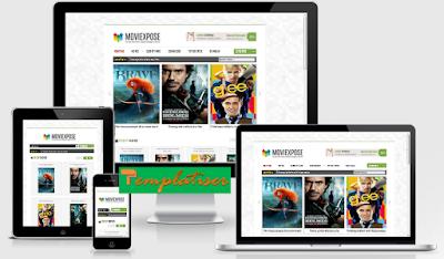 Screenshot Template Blogger MovieXpose - Templatiser