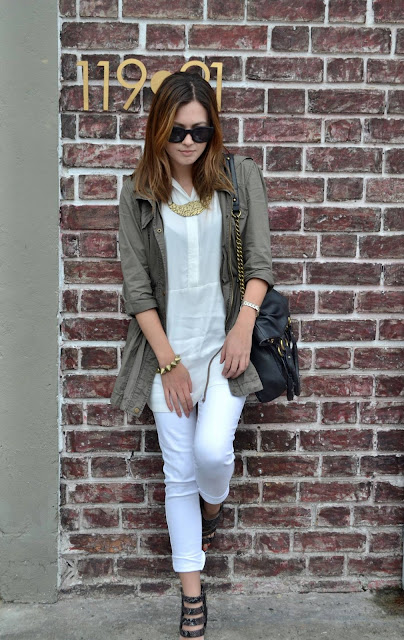 All white and military green