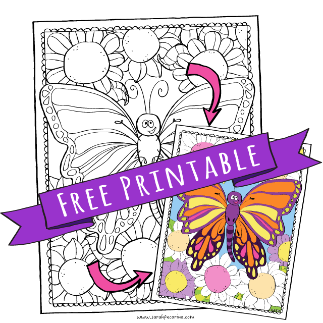 Dont Forget To Grab This Super Cute FREE Butterfly Coloring Page Too You Can Download Beauty HERE