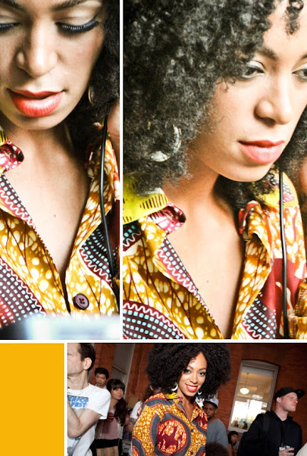 Solange-knowles-in Boxing-kitten-shirt-african-print-ciaafrique