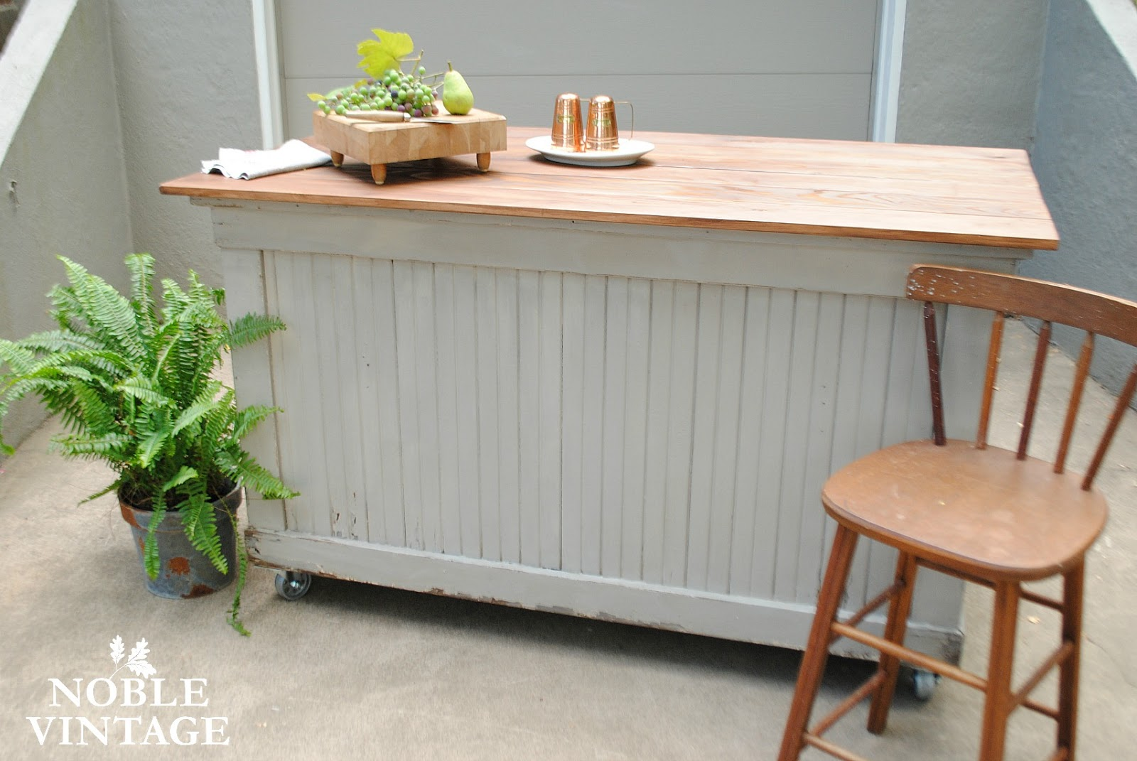 Industrial Gray Kitchen Island Makeover And The Joy Of Finding Fruit