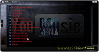 Add-On - YouMusic - KODI - Escute e assista as suas musicas preferidas