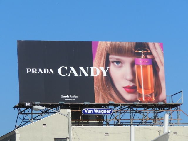 Prada Candy fragrance billboard