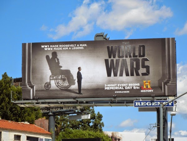 Roosevelt World Wars mini-series billboard