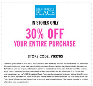 Coupons & Discounts — The Children's Place Looking for the latest and greatest deals at The Children's Place? Then follow this link to the homepage and check out their current coupons.5/5(9).