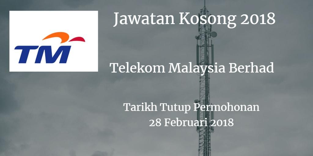 Jawatan Kosong TM 28 Februari 2018