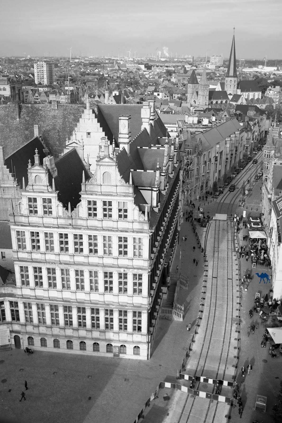 Le Chameau Bleu  - Gand Vu du Ciel - Ghent Gent Belgique