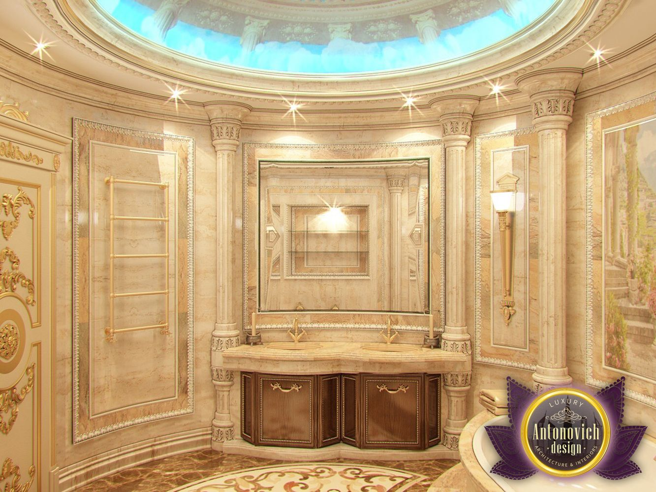 Nigeiradesign bathroom designs by luxury antonovich design for The bathroom designer