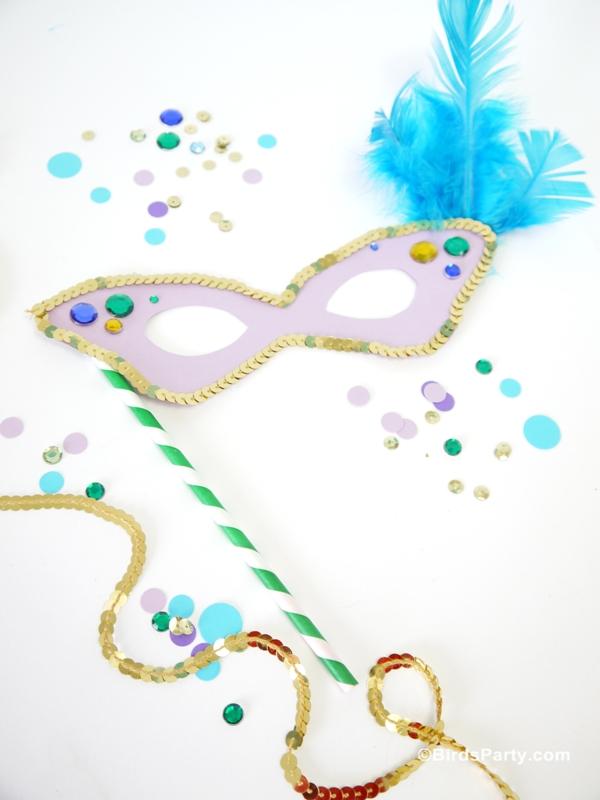 Free Printable Mardi Gras Party Mask Templates Party Ideas Party Printables Blog