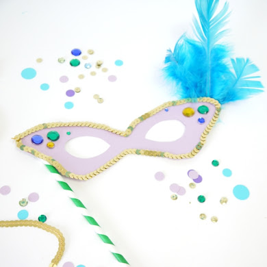 Free Printable Mardi Gras Party Mask Templates