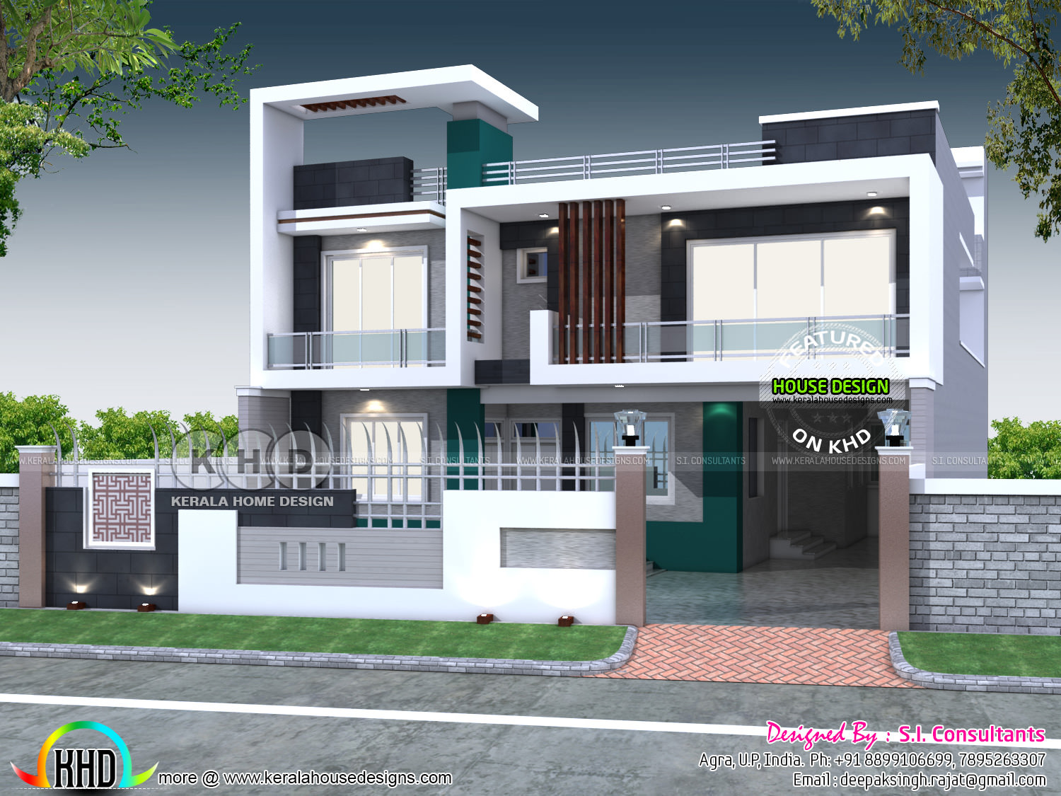 Indian Home Design: 40x80 Contemporary Indian Home Design