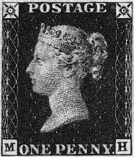 Primer sello postal One penny