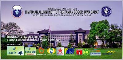 Banner Musyawarah Daerah HA IPB DPD Jawa Barat Tahun 2017.