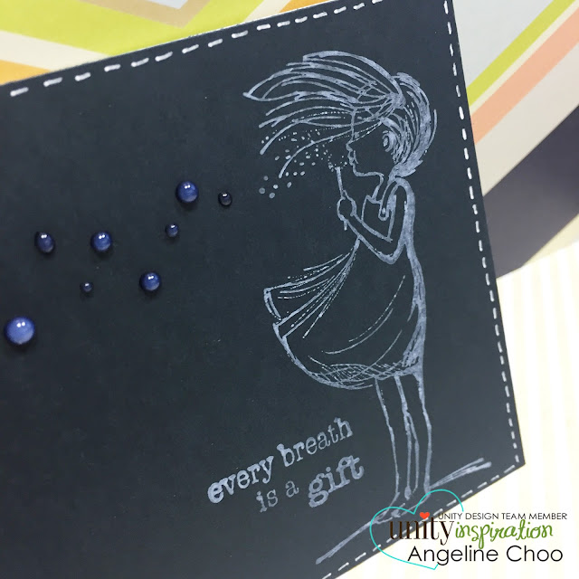 ScrappyScrappy: Faux chalkboard card #scrappyscrappy #unitystampco #youtube #video #quicktipvideo #card #cardmaking #phyllisharris #chalkboard #stamp #stamping #vivadecor