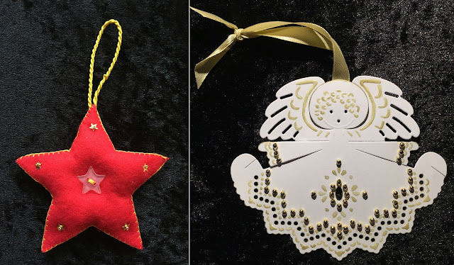 Felt Christmas Star and paper angel