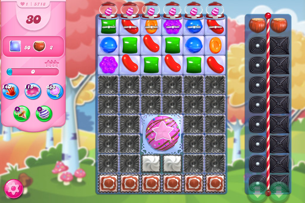 Candy Crush Saga level 5718