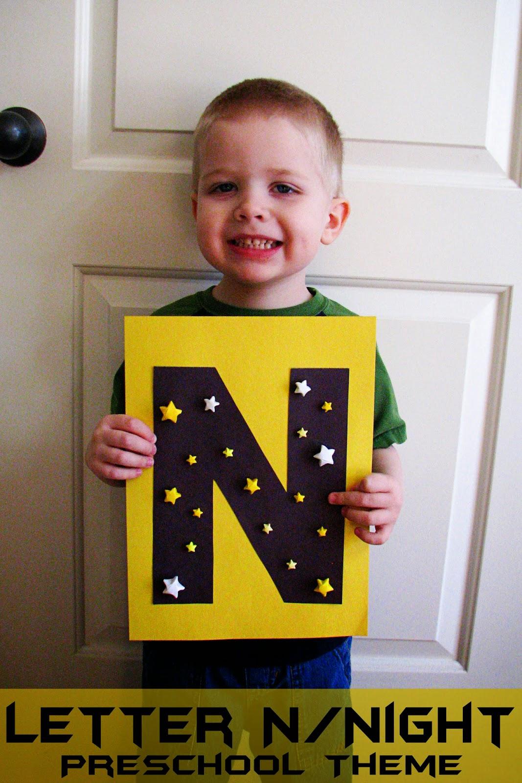Mommy S Little Helper Letter N Night Preschool Theme