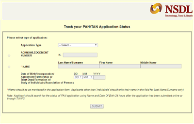 How To Track Pan Card Status through online