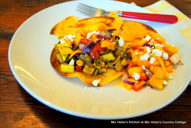 Veggie Tostada's at Miz Helen's Country Cottage