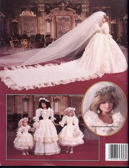 DIY - Vestido de Noiva de Crochê da Princesa Diana Para Barbie