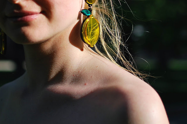 statement earrings, earrings lemon, style blog, street fashion, модные образы