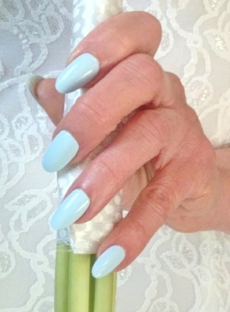 blue bridal nails