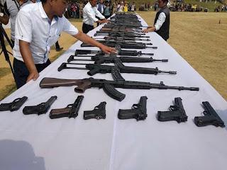 Hmar militants lay down arms