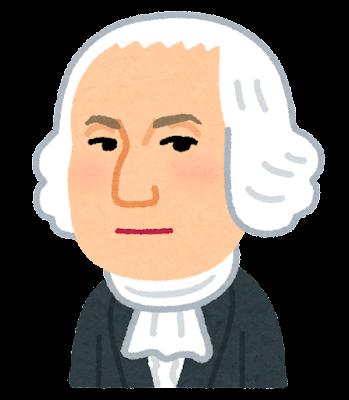 ジョージ・ワシントンの似顔絵イラスト