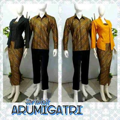 Model Setelan Seragam Baju Batik Sarimbit Pasangan Couple Terbaru