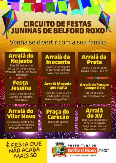 Circuito Festa Junina Uberlandia : Prefeitura divulga circuito caipira belforroxense de
