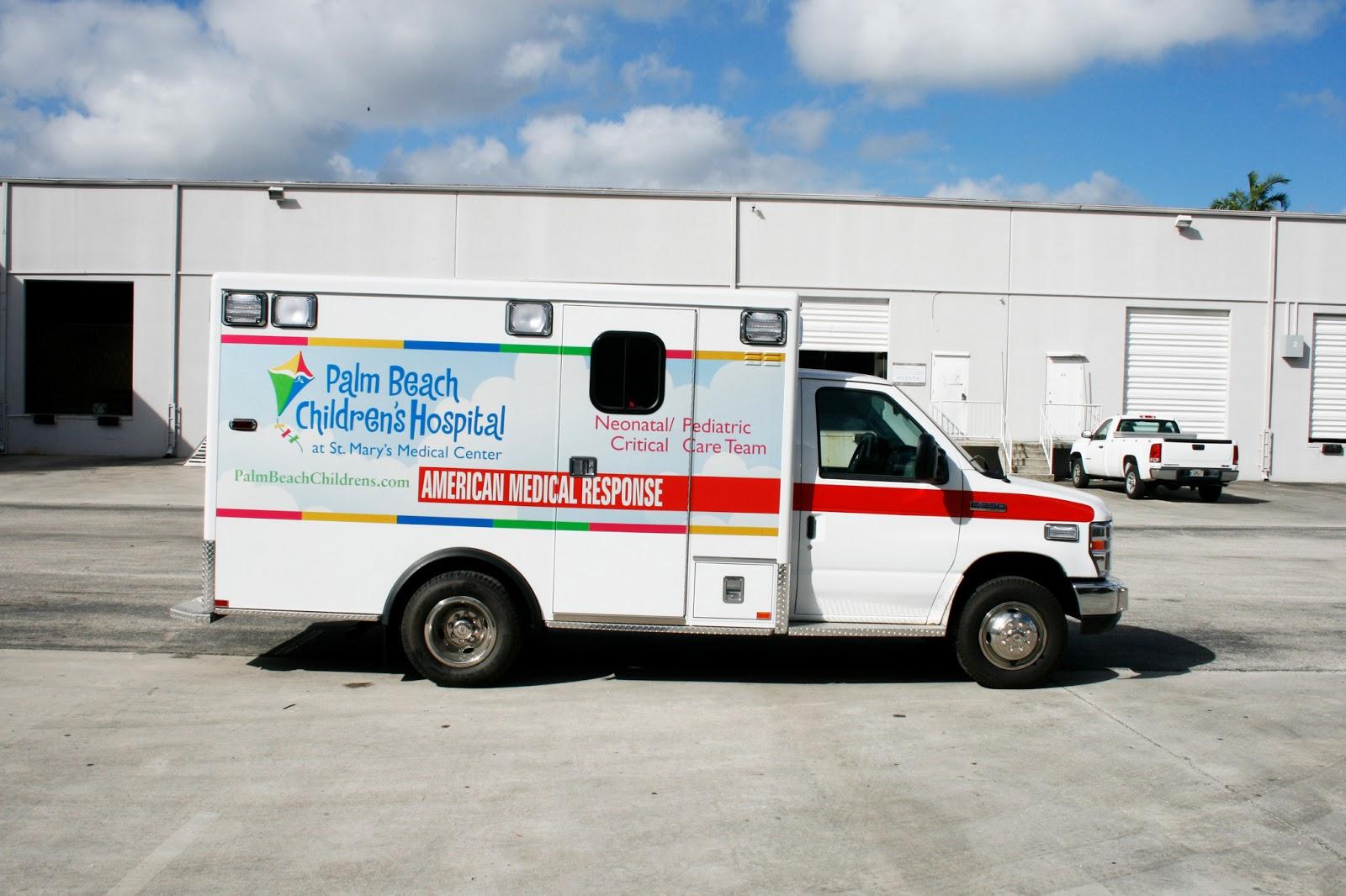 Ambulance Van Wrap Palm Beach Florida