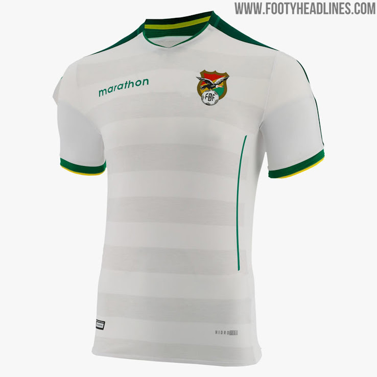 adbeb8724c4 Based on the same template, the Bolivia 2019 Copa America away shirt is  mainly white with green applications and white details.