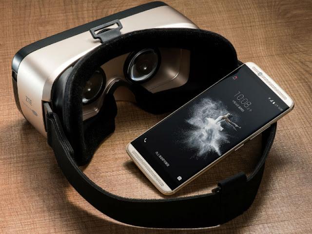 الكشف عن الهاتف الذكي Axon 7 ونظارة الواقع الافتراضي ZTE VR