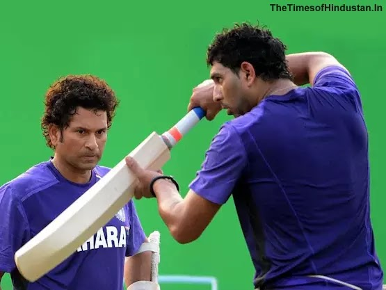 thetimesofhindustan.in sachin tendulkar and yuvraj bat for universal health day