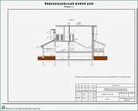 Проект жилого дома в пригороде г. Иваново - д. Афанасово Ивановского р-на. Разрез
