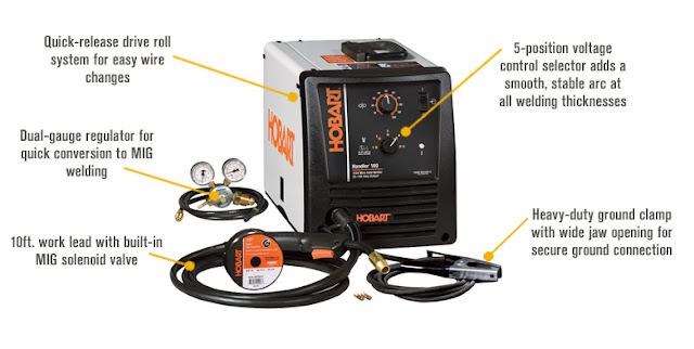 Hobart 500559 Handler Wire Welder Review Video