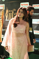 Nidhi Subbaiah Glamorous Pics in Transparent Peachy Gown at IIFA Utsavam Awards 2017  HD Exclusive Pics 50.JPG