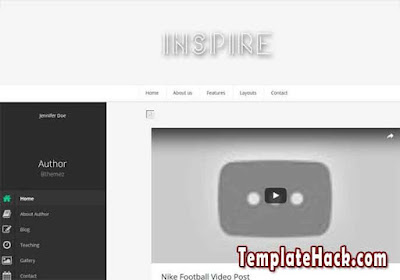 inspire blogger template