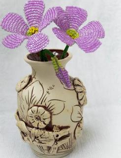 Oya Boncuklarından Çİçek Yapımı