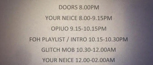 UK Glitch Hop: Review: The Glitch Mob / Opiuo / Your Niece @ The Forum, Kentish Town, London, 30 May 2014