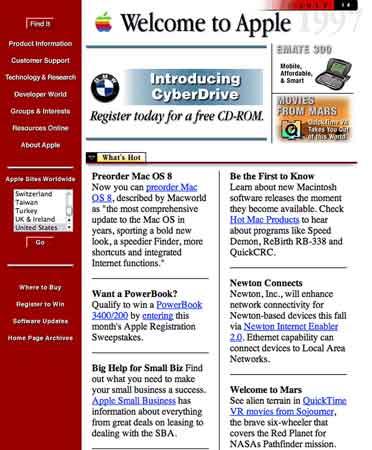 Tampilan Awal Website Terbesar di Dunia