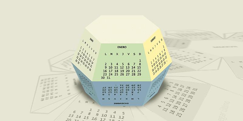Prismaticalendario Hexagonal 2017