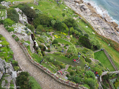 St Michaels Mount Gardens from above