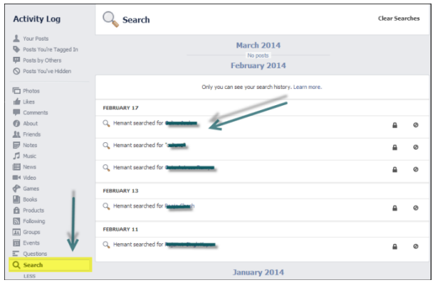 How to delete activity log on facebook 2017 arkanpost page the main menu for your activity decrease to the bottom and strike search a spinning circle needs to be noticeable to you simply surrounding to ccuart Choice Image