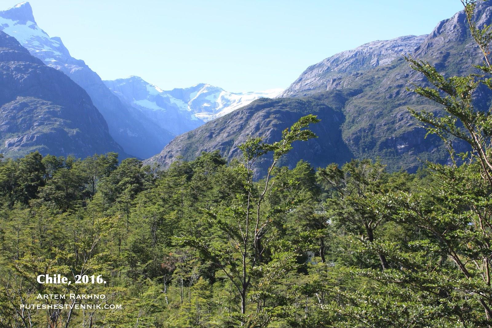 Леса и горы в Чили