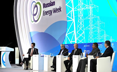 Russian Energy Week Forum in Moscow.