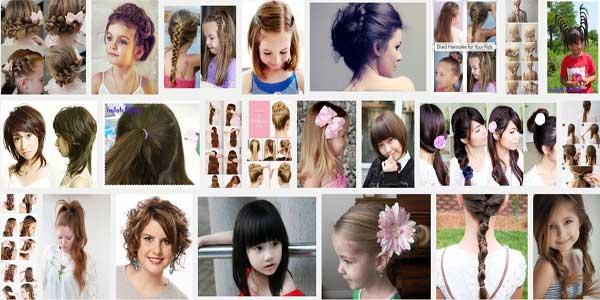 Model Rambut Anak Perempuan Dikuncir dan Dikepang