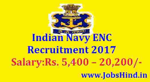 Indian Navy ENC Recruitment 2017