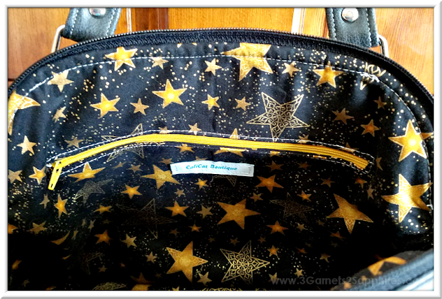 Custom Star Wars-Inspired Handbag with Coordinating Lining | 3 Garnets & 2 Sapphires