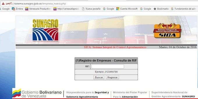 Cómo inscribirse en el SICA-SADA Sistema Integral de Control Agroalimentario de SUNAGRO